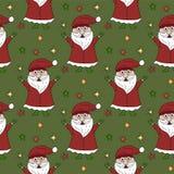 传染媒介圣诞节无缝的样式 库存图片