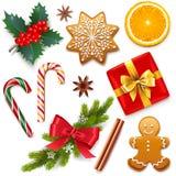 传染媒介圣诞节标志象 库存例证