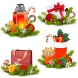 传染媒介圣诞节概念象 向量例证