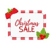 传染媒介圣诞节横幅与霍莉的待售 向量例证