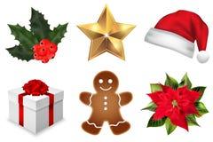传染媒介圣诞节装饰元素集 免版税库存照片