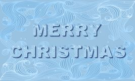 传染媒介圣诞节邀请卡片 免版税图库摄影