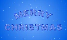 传染媒介圣诞节邀请卡片 免版税库存图片