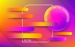 传染媒介在时髦明亮的梯度颜色的设计模板 摘要可变的几何形状 向量例证