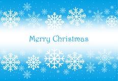 传染媒介在雪花的圣诞节背景 图库摄影
