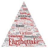 传染媒介地震活动三角箭头 库存例证