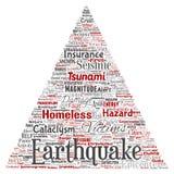 传染媒介地震活动三角箭头 皇族释放例证
