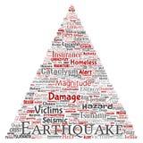 传染媒介地震活动三角箭头 向量例证