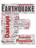 传染媒介地震活动信件字体E红色 库存例证