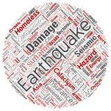 传染媒介地震活动圆的圈子 向量例证