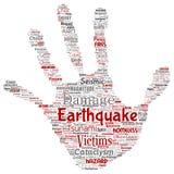 传染媒介地震活动手印刷品邮票 皇族释放例证