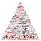 传染媒介地震活动词云彩 向量例证