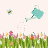 传染媒介复活节花卉背景 库存例证