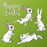 传染媒介复活节Bunnys 库存图片