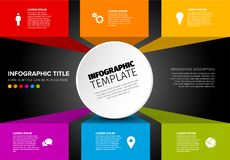 传染媒介多用途Infographic模板 库存照片