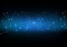 传染媒介多角形背景摘要技术通信数据 免版税库存照片