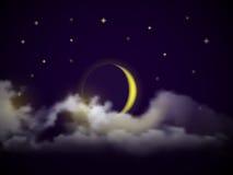传染媒介夜空 免版税图库摄影