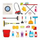 传染媒介套为清洗的工具 向量例证