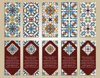 传染媒介套事务和邀请的五颜六色的垂直的横幅 免版税图库摄影