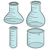 传染媒介套实验室玻璃器皿 免版税库存图片