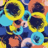 传染媒介套手拉的刷子斑点和飞溅,墨水,并且油漆纹理设计元素 库存例证