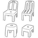 传染媒介套椅子 库存照片