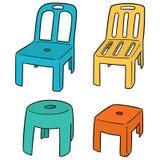 传染媒介套椅子 免版税库存图片