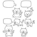 传染媒介套猫 向量例证