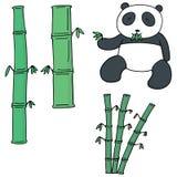 传染媒介套竹子和熊猫 皇族释放例证