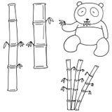 传染媒介套竹子和熊猫 向量例证
