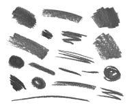 传染媒介套蜡笔灰色抚摸白色背景的Isoalted 库存例证