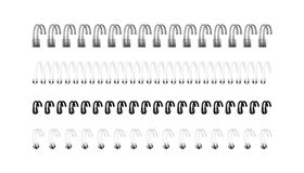 传染媒介套螺旋的现实图象笔记本的 库存图片