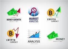 传染媒介套财政,隐藏货币商标 市场analisys,图象 皇族释放例证