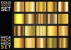 传染媒介套金子梯度,金黄正方形收藏,构造小组 免版税库存照片