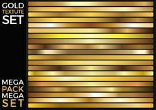 传染媒介套金子梯度,金黄正方形收藏,构造小组 库存图片