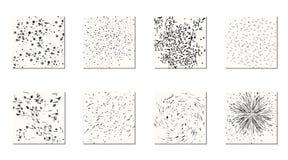 传染媒介套黑色飞溅 斑点飞溅,汇集、难看的东西设计、元素和艺术 在白色背景的斑点 库存例证