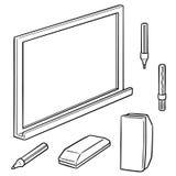 传染媒介套whiteboard和文字设备 库存图片