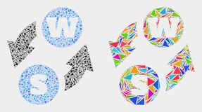 传染媒介字母表字符交换三角元素马赛克象  皇族释放例证