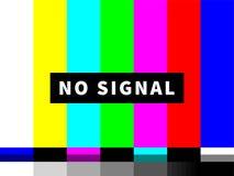 传染媒介对有色人种的歧视没有信号电视测试卡片  库存例证