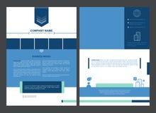 传染媒介小册子模板设计,企业communicarion广告 库存例证