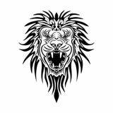 传染媒介巴洛克式的狮子在白色背景中 库存图片