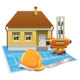 传染媒介房地产项目 免版税库存图片