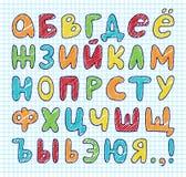 传染媒介手拉的俄国西里尔字母 图库摄影
