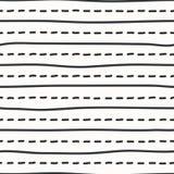 传染媒介手被说明的无缝的纹理 免版税库存图片