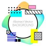传染媒介抽象几何背景 现代和时髦的抽象设计海报 免版税库存图片