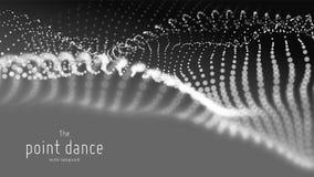 传染媒介抽象单色微粒波浪,点列阵,浅景深 未来派例证 技术 向量例证