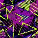 传染媒介摘要无缝的几何样式 现代都市艺术难看的东西纹理 皇族释放例证