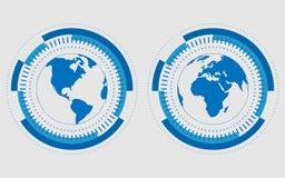 传染媒介数字式地球技术概念 免版税库存图片