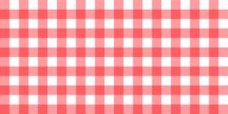 传染媒介方格花布镶边方格的一揽子桌布 与自然纺织品的无缝的白色红色桌布餐巾样式背景 库存例证