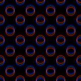 传染媒介无缝的小故障样式 在黑背景的颜色 圈子圆的元素 数字式映象点噪声摘要设计 向量例证
